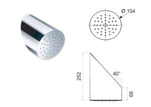 Aussendusche-DL-OVE-polierter-Duschkopf-fuer-Warmwasser-und-Kaltwasser-aus-Edelstahl-Inox304-technische-Zeichnung
