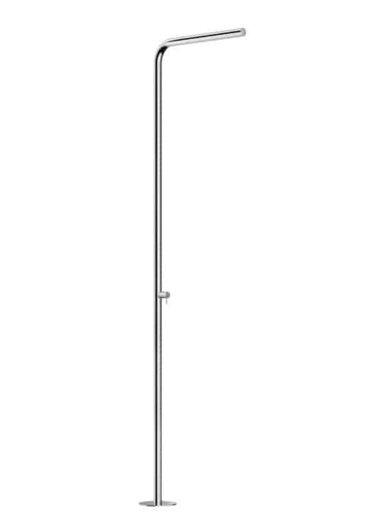Aussendusche-SKINNY-Warmwasser-mit-Einhebelmischer-der-Firma-FONTEALTA-Italien-in-V4A-Edelstahl-besonders-korrosionbestaendig-und-dauerhaft-fuer-den-Aussenbereich-geeignet