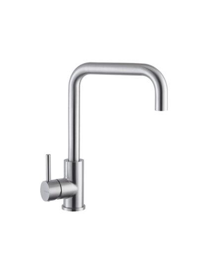 Küchenarmatur NF ADEON Warmwasser für Außenbereich geeignet. Gartenküchenarmatur aus Edelstahl V4A. Absolut korrosionsbeständig, mit Einhandmischer für warmes und kaltes Wasser.
