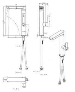 Küchenarmatur Hybrid, technische Angaben