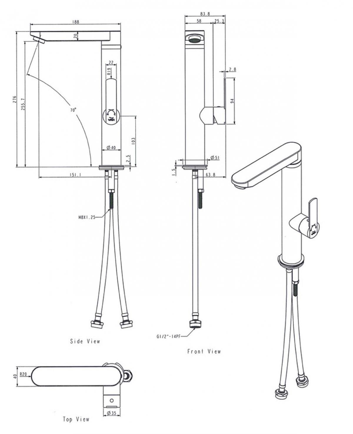 Küchenarmatur Edelstahl, Küchenarmatur Hybrid, Einhebelmischer, Spültischarmatur