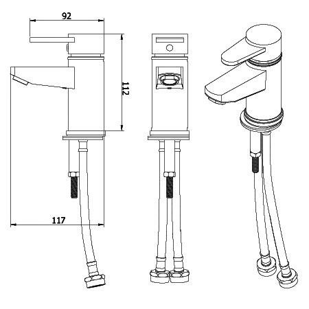 mischbatterie romeo edelstahl armaturen. Black Bedroom Furniture Sets. Home Design Ideas