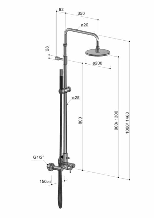 Die Außendusche der Serie Waterline W53.E/BX ist besonders für anspruchsvolle Umwelteinflüsse gemacht. So kann die Dusche auch im Winter frostsicher entleert im Garten verbleiben. Das Material Edelstahl V4A ist äußerst korrosionsbeständig und hält Wind und Wetter stand. Due Gartendusche verfügt über einen Warm-und Kaltwasseranschluss, der über eine Mischbatterie bedient wird. Kaufen Sie Ihre FONTEALTA Dusche noch heute. Oder fordern Sie ein kostenloses Angebot an.