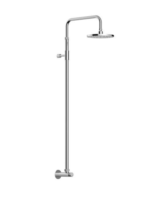 Das Duschset Waterline W52.BX Kaltwasser ist aus Edelstahl (V4A) gefertigt. Das Edelstahl Material ist äußerst korrosionsbeständig, langlebig und nachhaltig entwickelt. Klare Formensprache und hochwertiges Design sind Ausdruckmerkmal der Firma FONTEALTA. Die Kaltwasserdusche verfügt über ein Kaltwasserventil zur Einhand-Bedienung.