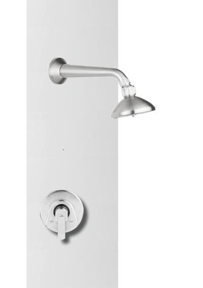 Diese Warmwasser Wanddusche für den Außenbereich wird mit einem Einhebelmischer ausgestattet. Die Dusche ist zu 100% aus dem Material Edelstahl gefertigt. So ist diese Dusche für den Außenbereich besonders korrosionsbeständig. Nutzen Sie die Außen-Armatur aus Edelstahl als Pooldusche oder Saunadusche.