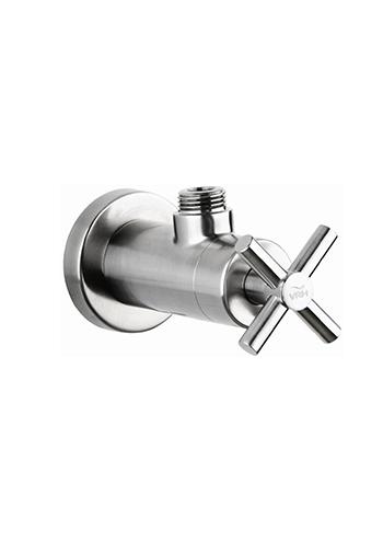 Edelstahl-Eckventil, Wasserhähne, Design-Absperrventil Smooth in Edelstahl, Gartendusche , Außendusche