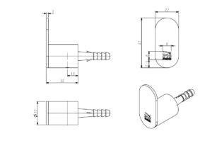 Handtuchhaken in Edelstahl, Design-Wandhaken, für außen